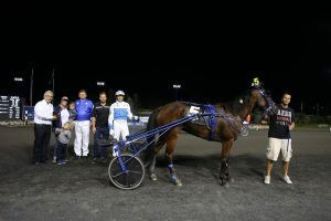 Per Henriksen with Bee In Charge after winning the Simcoe stake last month. (New Image Media)